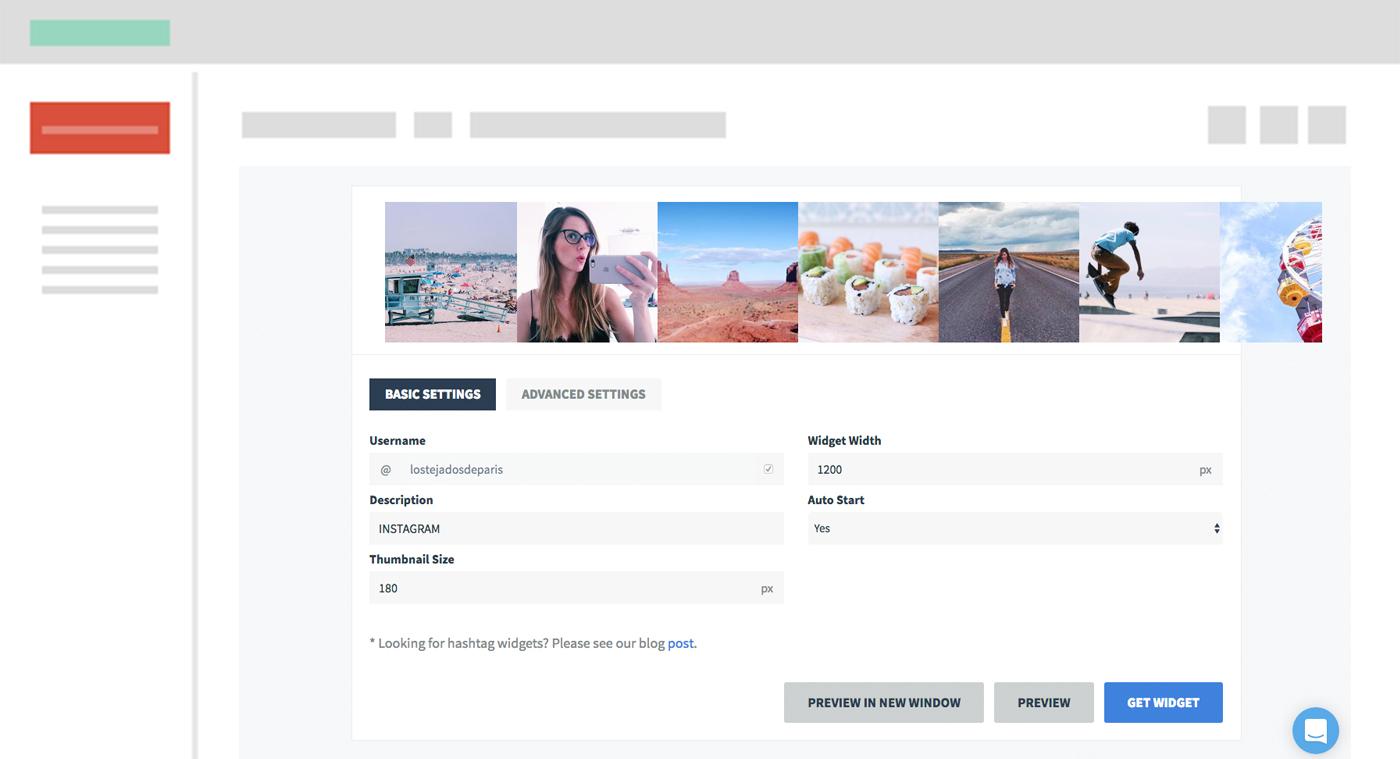 Cómo mostrar el feed de Instagram en tu blog